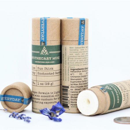 Sunstick Enchanted Garden Lavender wrapped unwrapped trio